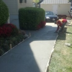Laying Concrete Sidewalk by PSI Services in Washington DC Metro Area