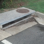 Concrete Gutter - Drainage Systems and Stormwater Management Done by PSI in Virginia and Washignton DC Metro Area