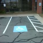 Handicap Concrete Painting Done by PSI Property Services in Washington DC Metro Areas