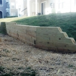 Retaining Wall Done by PSI for Drainage and Stormwater Management Systems in Virginia & Washington DC Metro Areas