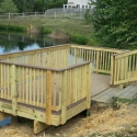 Wooden Lake Deck- by PSI Property Services in Virginia and Washington DC Metro Areas
