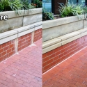 Before and After Commercial Power Washing Done by PSI in Washington DC Metro Areas