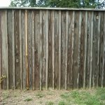 Wood Fence Before Commercial Power Washing Done By PSI in Washington DC Metro Areas