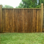 Wood Fence After Commercial Power Washing Done By PSI in Washington DC Metro Areas.
