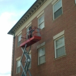 Brick Building Commercial Power Washing Done By PSI in Washington DC Metro Areas.