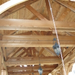 Wooden Rafters- Commercial Power Washing Done in Washington DC Metro Areas.