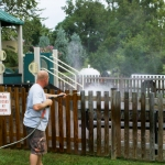 Playground Fence Commercial Power Washing Done By PSI in Washington DC Metro Areas.