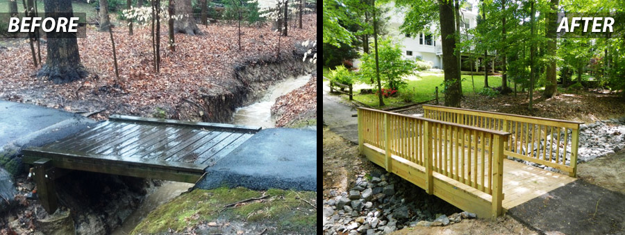 Bridge Restoration - Before & After- Concrete Services and Commercial Power Washing in Virginia and Washington DC