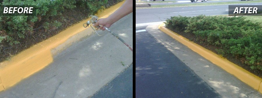 Contractor PSI for Curb Painting- Concrete Services in Washington DC Metro Area