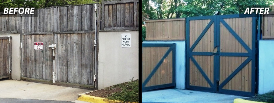 Before and After of Gate Repair for Stormwater Management in Virginia by PSI