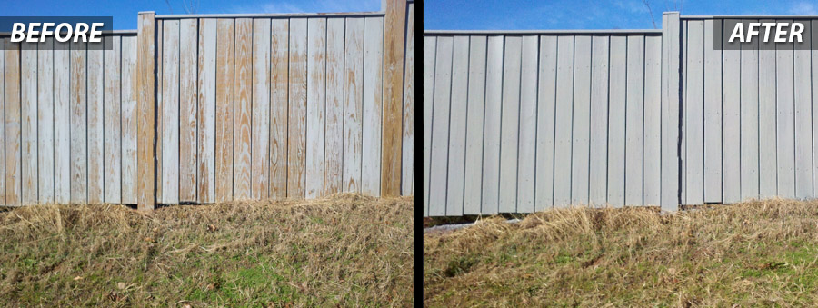 Before and After for Fence Painting- Contractor PSI Offers Stormwater Managment in Virginia