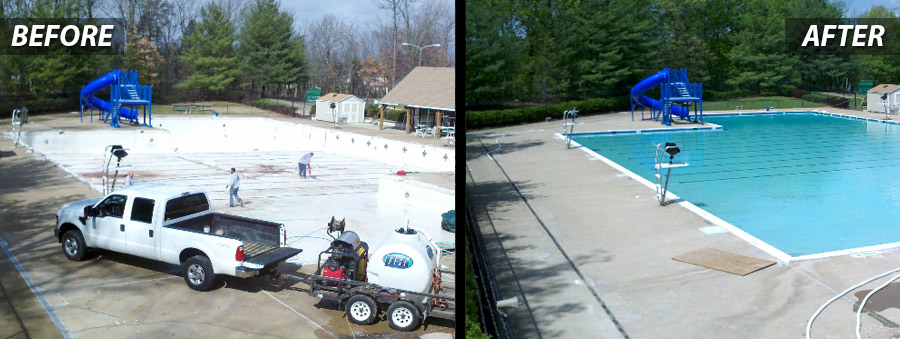 Before and After of Swimming Pool Maintenance for Drainage Systems in Washington DC Metro Area