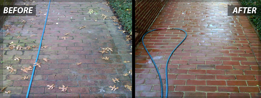 Before & After of PSI's Commercial Power Washing in Washington DC Metro Area