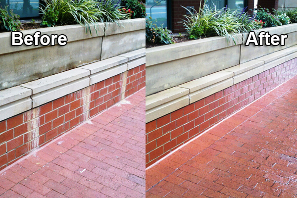 Commercial Cleaning & Power Washing Services in the Metropolitan Area - Brick Walkway