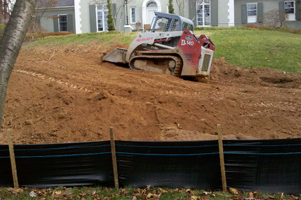 Dirt Bobcat- Erosion Control and Drainage Systems- Washington DC Metro Area