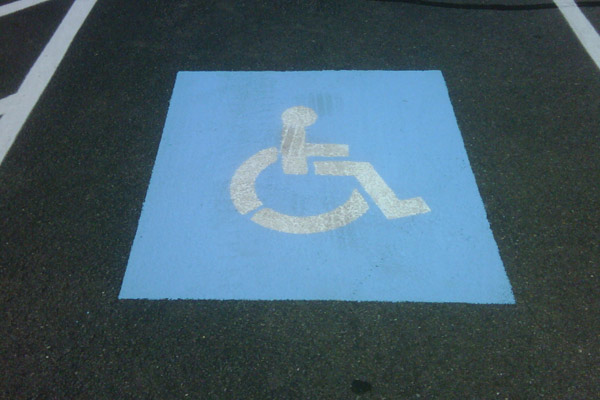 Handicap Sign- Commercial Power Washing, Stripping, Painting- Virginia