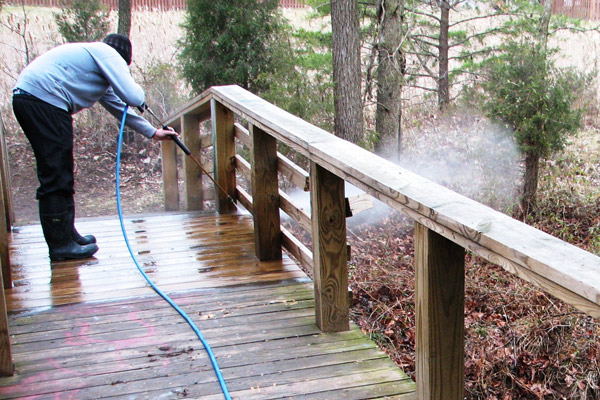 Commercial Deck Power Washing by PSI in Washington DC Metro Area