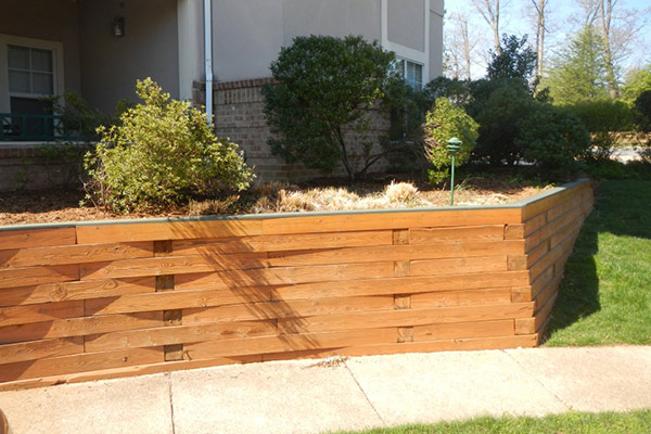 Retaining Wall- Commercial Power Washing and Stormwater Management Services- Virginia and Washington DC Metro Area