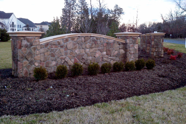 Stone Sign- Concrete Services and Commercial Power Washing- Virginia