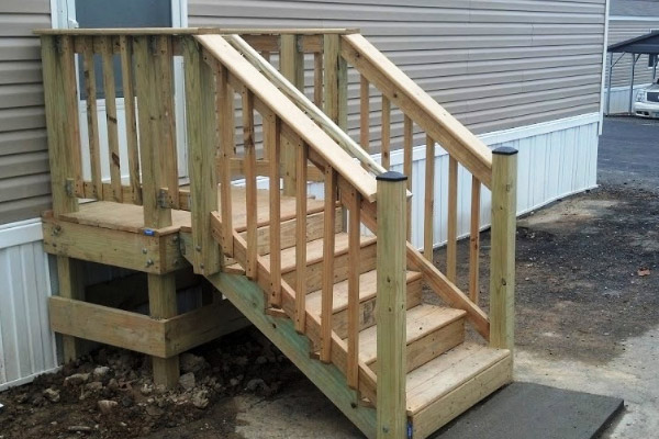 Wooden Stairs- Commercial Power Washing in Washington DC Metro Area
